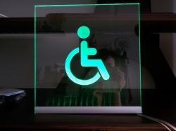 Световая табличка с датчиком движения