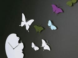 Бабочки из картона на стену детской