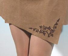 Рисунки на одежде из кожи