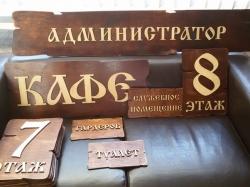 Таблички для отеля из фанеры