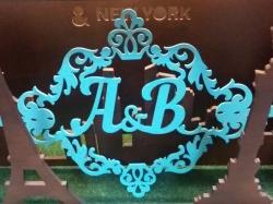 Отдельные буквы с красивым обрамлением