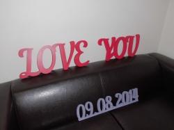 Фраза Love You на свадьбу